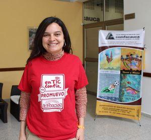 Andrea Carolina Valencia, conferencista 'en TIC confío', del Ministerio de las Tic's, explicó que es necesario educar a los niños en el uso responsable de las tecnologías de la información y las comunicaciones a fin de sacar el mayor provecho de estas.