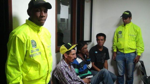William Alberto Narváez, José Orlando Agredo y Hermes Darío Velasco fueron cobijados con medida de aseguramiento en centro carcelario. / Suministrada - El Nuevo Liberal.