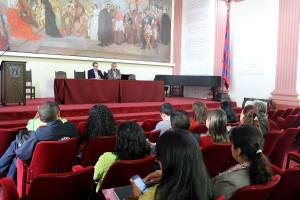 Entre las actividades académicas como apoyo al proceso de paz, la Unicauca realizó el Panel sobre refrendación de los acuerdos; con Alirio Uribe, copresidente de la Comisión de Paz de la Cámara de Representantes. / Fotos Suministradas/ El Nuevo Liberal.