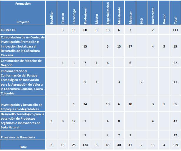 Estos son los empleos que se han generado en el Cauca con la ejecución de los proyectos que ejecuta la Gobernación. /Suministrada.