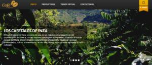 Cafetales de Inzá facilita la compra de café por parte de consumidores para ser adquirido con la mejor calidad a los productores en esta plataforma de comercio electrónico. Foto: Cafetales de Inzá.
